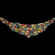 Vintage Yves St. Laurent Glass Necklace  circa  1980's