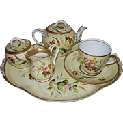 Antique English Worcester Tea Set  Butterflies, Roses