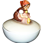 "Hummel "" Chick Girl ""  Candy Dish  TMK3   #111/57   'Old Style'"