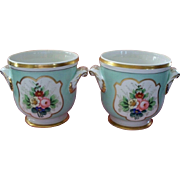 "Pair of "" Vista Alegre "" Cache Pots  Portugal  V.A.  Never used.. circa 1950"