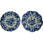 Delft   Wall  Plates/Bowls   Scalloped.. Fluted  Rims