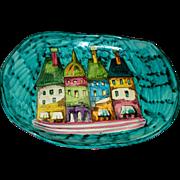 Vintage Minghetti of Bologna .. Italian Faience/ Majolica  Large Bowl