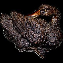 Vintage Bronze Duck