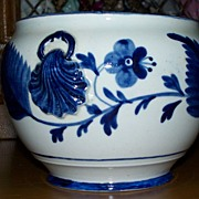 Antique Staffordshire Pearlware Blue & White Bowl  Scallop  circa 1820