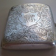 Antique Sterling Silver Card Case by Birks  circa 1910