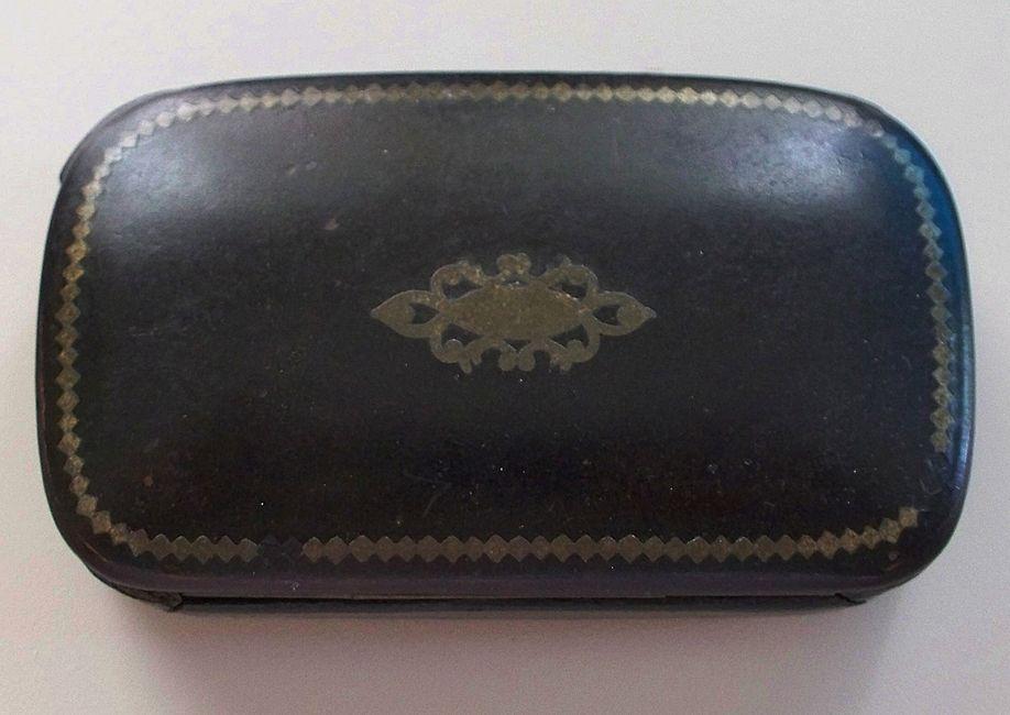 Papier Mache Oblong Box  circa 1850