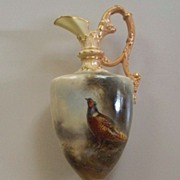 Royal  Worcester  Urn/ Vase  Pheasant  James Stinton  Artist  circa 1910