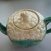 Etruscan Majolica G.S.H Cauliflower Tea Pot 1870's