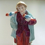 Antique Capodimonte  Urchin Boy with Parakeets    circa 1890