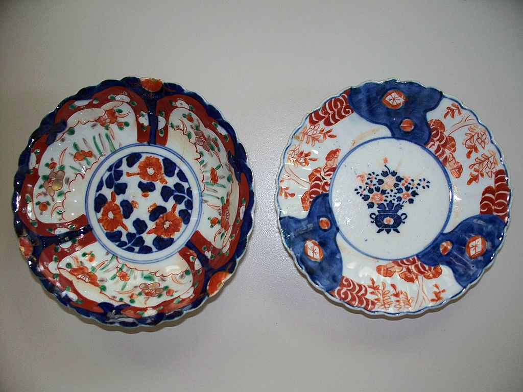 Three   Japanese Imari Fluted, Lobed Bowls ca.1900