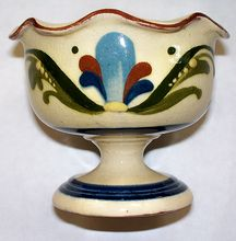 "Torquay Aller Vale ""Scandy"" Footed Cream Cup     circa 1920"