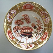 Antique English  Spode  Imari  24K Gilt  Bowl  Ca.1820