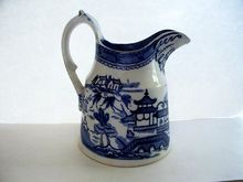 "Ashworth Bros of  Hanley""Canton"" Willow-ware Pitcher  ca. 1910"