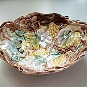 Antique G.S.H. Etruscan Majolica Deep  Bowl Circa 1870 Earliest Mark