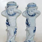Antique Royal Copenhagen Cherubs Potpourri  Jars dated 1907 Artists Signed