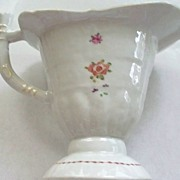 "Antique Chinese Rose Famille ""Helmet""  Pitcher   circa 1820"
