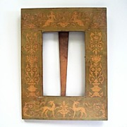 Antique Italian Florentine Pompeii -Style Wood Frame   ca.1900
