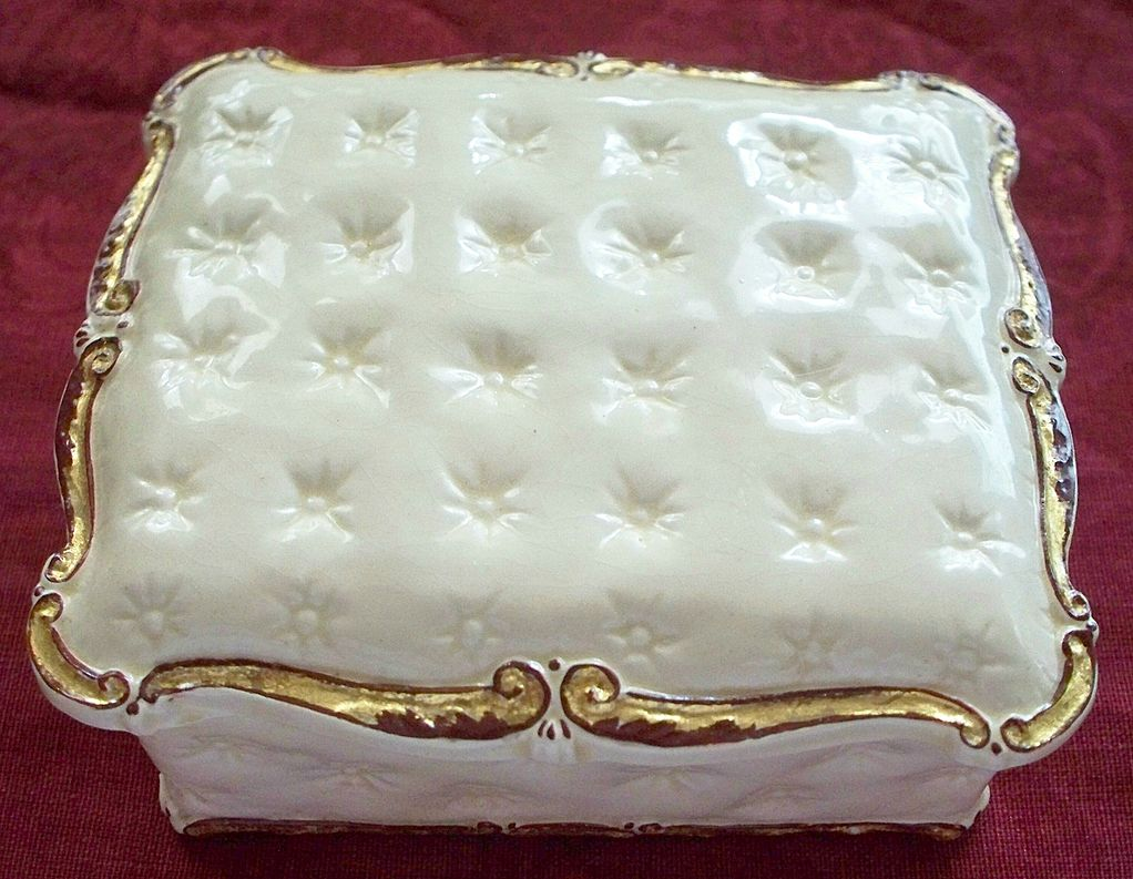 Delightful Wedgwood Hand-Painted  Box with a Unicorn Maker's Mark