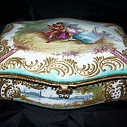 "Antique French Porcelain Box  ""Bourdois & Achille Bloch"" ca.1885"