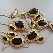 "Onyx  35"" Necklace Metropolitan Museum of Art  1960s"