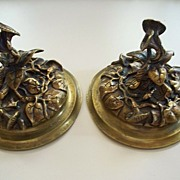 French Art Noveau Bronze  Lids  for  Vases   circa 1900