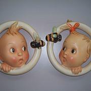 """Hummel : Pair of """"Ba-Bee """" Wall Plagues  #30a & 30B  Full Bee TMK #2"""