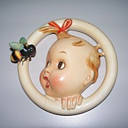 "Hummel ""Ba-Bee"" Wall Plaque Crown Mark TMK #1  30/0 B circa 1935  rare"