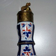 Evans  Imari  Porcelain  &  Brass Table  Lighter    circa 1950