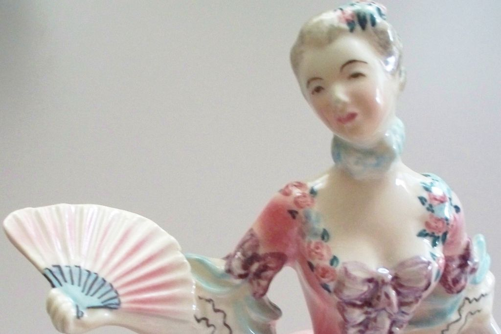 "Vintage Goldcrest Ceramic of Young Princess;Woman called ""Minuet"" Signed & #  ca.1950"