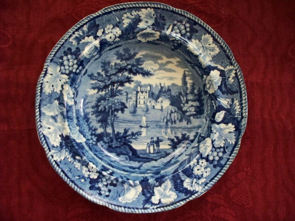 antique staffordshire pearlware plate enoch wood amp sons