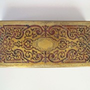 "Antique  French 'Boulle'  Desk Box    circa 1870       8"" x 3.5"" x 2"""
