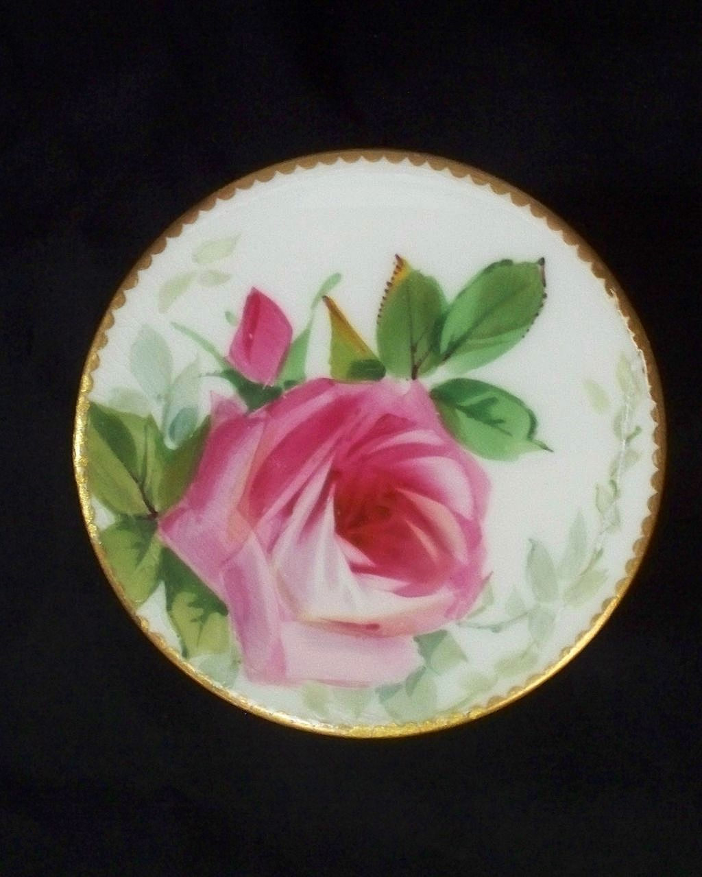 Minton Rose Dresser Jar   Sevres Borders   Hand-Painted  ca. 1890s
