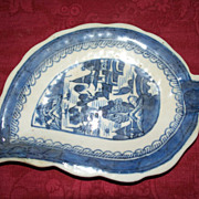 Chinese Canton Leaf Dish  ca.1780
