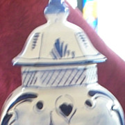 Delft Vase  Hand-Painted  with Hearts    circa 1917