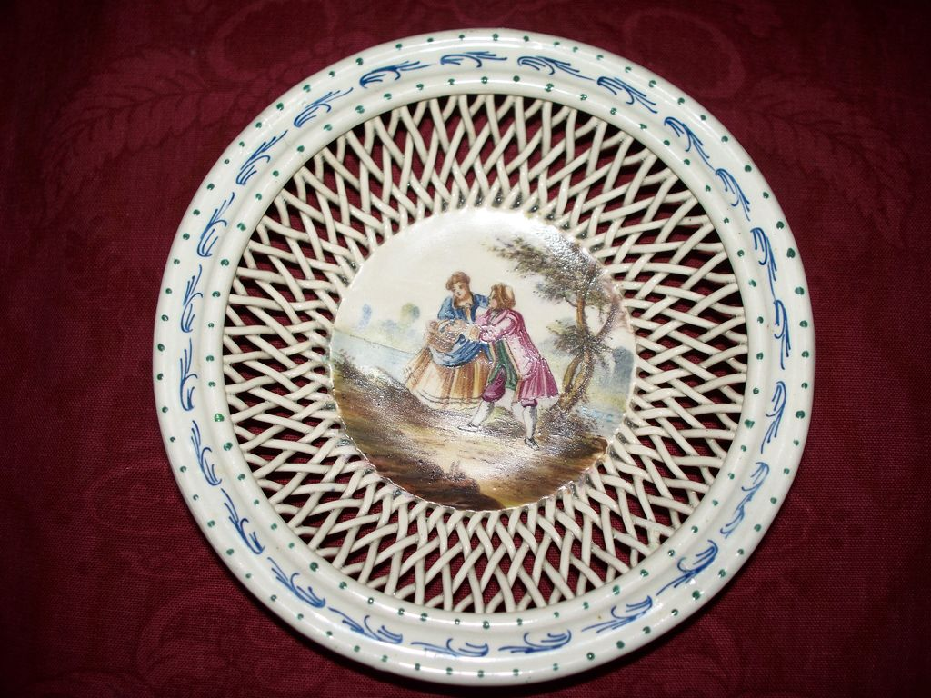 Antique french faience small bowl by lille artist signed e duc from antiquech - Boutique vintage lille ...