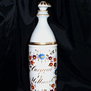 "Antique Paris Porcelain Perfume Bottle with HP flowers etc. 10.2""  circa 1890"