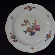 Antique Meissen Plate Raised Embossed Rococo Designs  18th Century