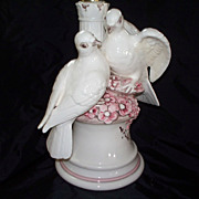 Large Italian Lamp of Love Birds..