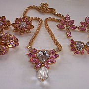 Christian Dior Necklace, 3 Pairs of Earring & 2 Pins Set. Never worn NEW