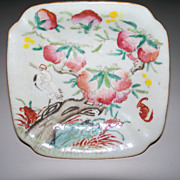 Small Chinese Daoguang bowl on Stand with Crane Bat.Ducks ca.1825