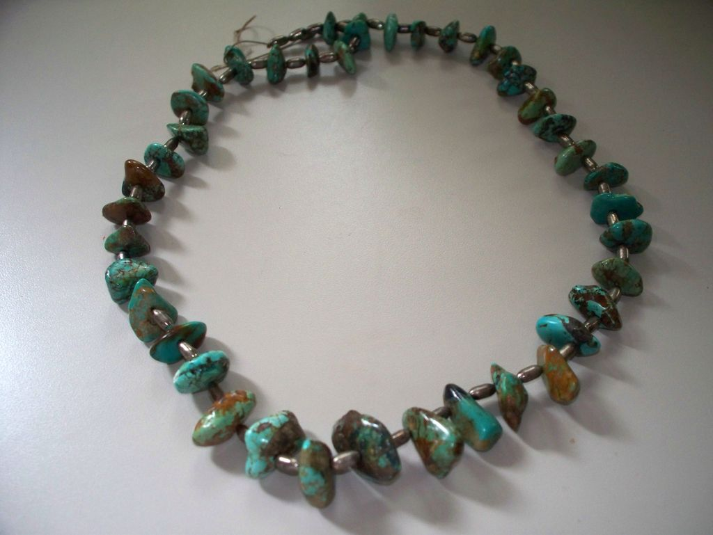 """Vintage Turquoise Necklace 25"""""""