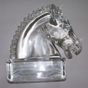 Vintage Crystal Horse Sculpture