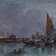 """""""Murano Ile de Pres Venise""""  Steel Engraving    C.Stanfield Artist  R.Wallis Engraver"""