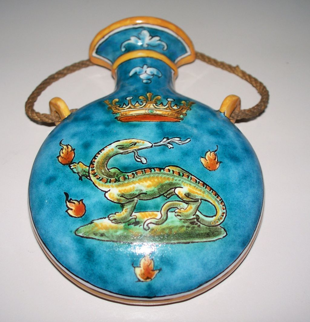 French Faience Ulysse Blois Emile Balon Artist  Wall Vase circa 1890