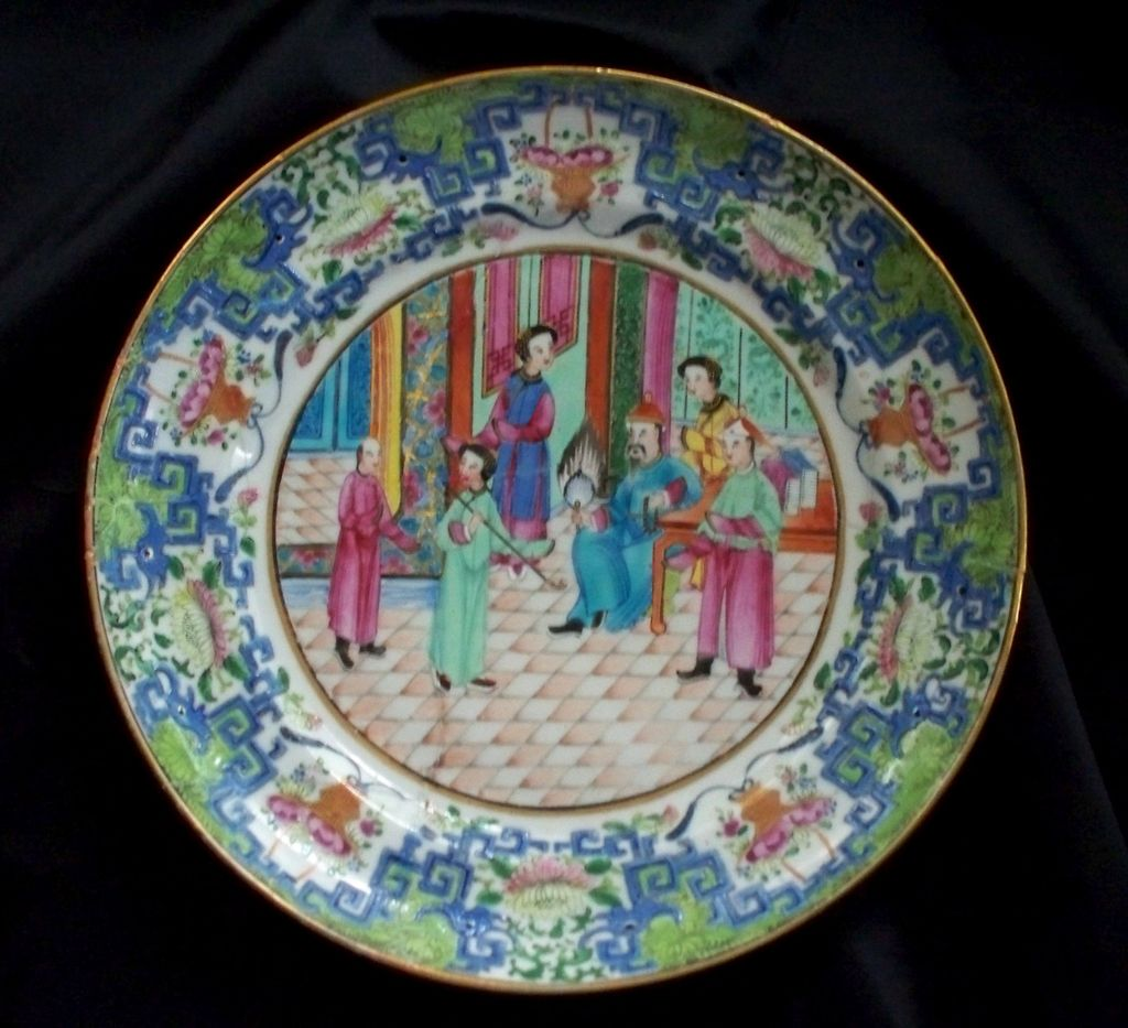 18th Century Chinese Mandarin Plate   Mythological Beasts