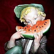 "Giuseppe Cappe Capodimonte  ""Watermelon Boy"""