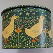 Lovely Folk Art  Hand-Painted Box  Ducks & Eggs