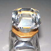 Baccarat Perfume Bottle    Signed
