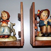 "Pair; Vintage Hummel Book-Ends ""Good Friends"" & ""She Loves Me, She Loves Me Not"""