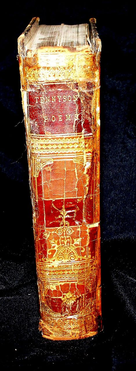 "Antique Book ""Poetical Works of Alfred Tennyson"" Complete Edition 1851"